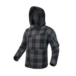 2019 New Man Slanted zipper assassin hoodie  tactical Plaid jacket