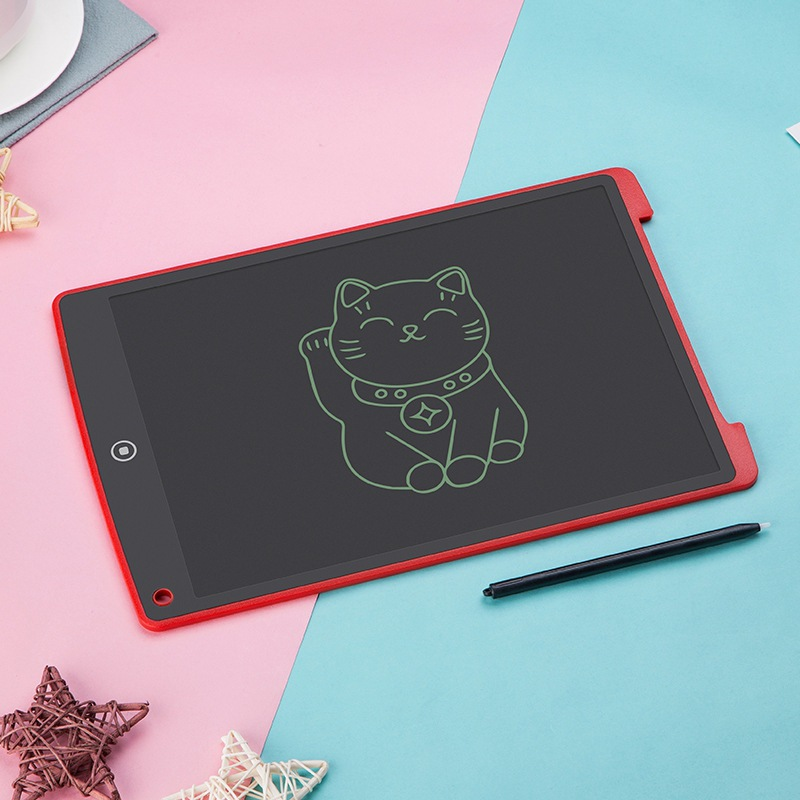 12-Inch Children Electronic Liquid Crystal Painted Handwriting Board Toy Electronic Small Blackboard Baby Drawing Board Notebook