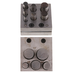 12 Holes 6-25mm Circle and Round Disc Cutter Set Jewelry Making Metal Cutting Forming Pendant Charm Coin Punch Tools