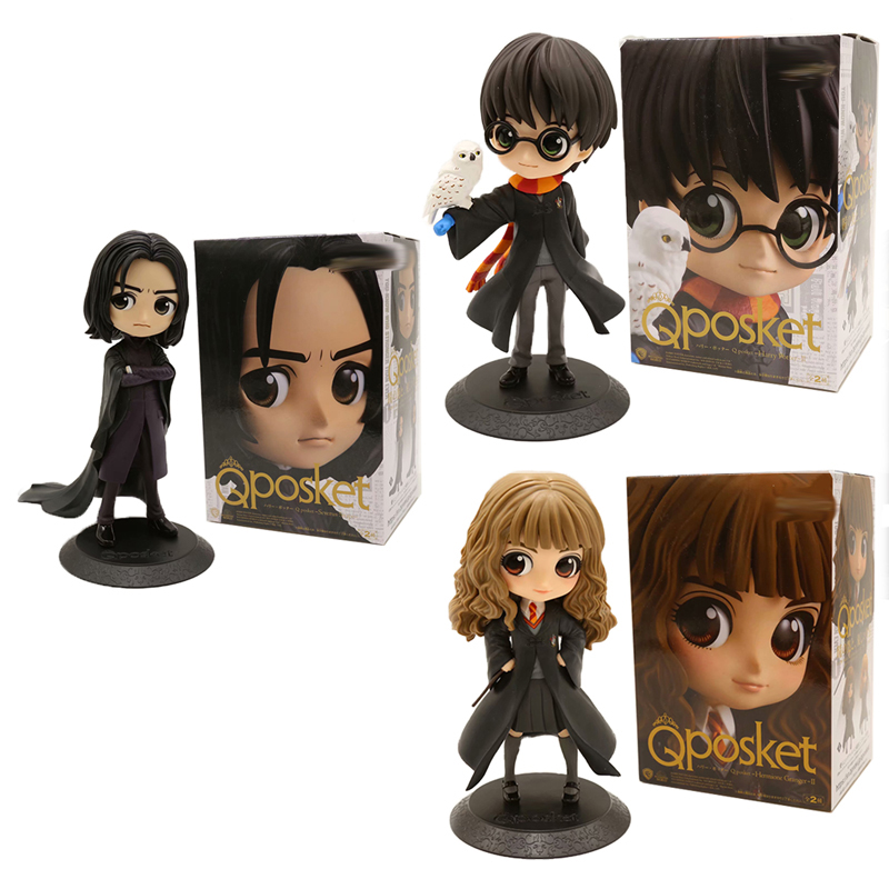 New Type Black Color QPosket Severus Snape Hermione Potter Cute Big Eye Action Figure Model Toys Doll For Christmas Gift