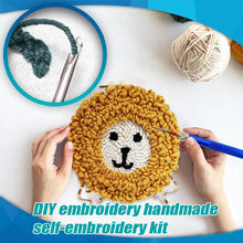 DIY Poke Embroidery Set Handmade Self-embroidery Kit Wool Embroidery For Kids Adult Home DIY Leisure Time Toys Friend's Gifts(China)