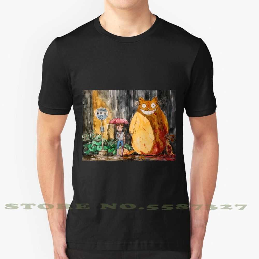 My Neighbor Garfield Fashion Vintage Tshirt T Shirts Imsorryjon Garfield Anime Studio Ghibli Fanart My Neighbor Totoro Totoro T Shirts Aliexpress