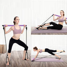 Draagbare Thuis Yoga Pull Staven Pilates Bar Kit Gym Body Abdominale Resistance Bands Oefening Stok Toning Bar Fitness Touw Puller(China)