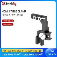 Smallrig X H1/X T2 braçadeira de cabo hdmi para fuji X H1 e fuji X T2 gaiola de câmera cabo hdmi braçadeira protetora 2156