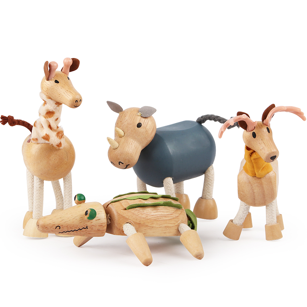 Original Genuine Wild Life Zoo Jungle Farm Animals Model Series 2 Rooster Goat Duck Otter Kids Educational Toy For Children Gift
