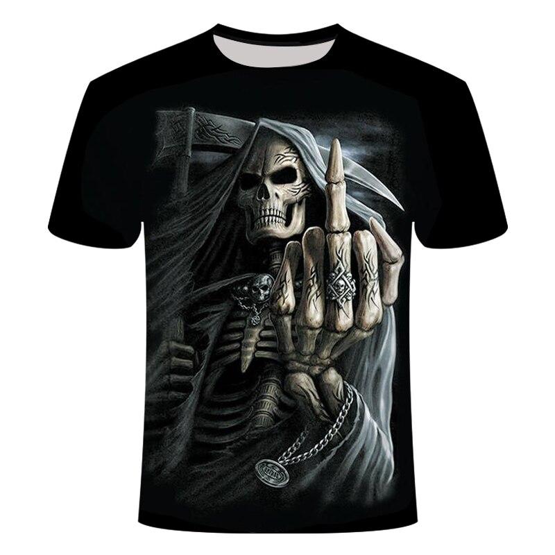 2019 NEW 3d Skull Poker Funny T Shirts Men HOT Brand Mens Casual 3D Printed T Shirt Men Clothes Tshirt Summer Top Asian Size