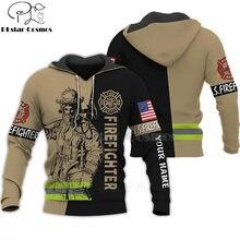 Повседневный Спортивный костюм с 3d принтом пожарных героев