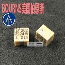10 pces 100% original novo estoque real bourns 3224w-1-202e 2k multi-turn potenciômetro de resistência ajustável de alta precisão