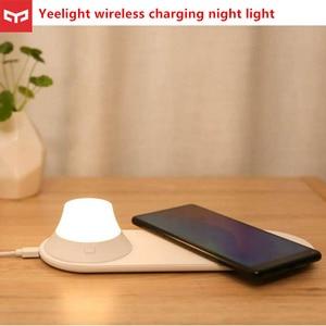 Image 1 - Yeelight Drahtlose Ladegerät mit LED Nacht Licht Magnetische Anziehung Schnelle Lade Für iPhones Samsung Huawei P40 handys