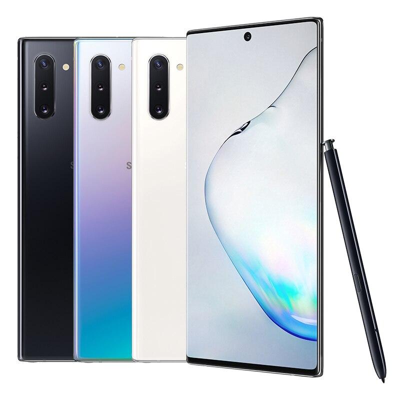 Original Neue Samsung Galaxy Note 10 | 10 + | 10 + 5G S Pen Unendlichkeit Display Auf Dem Bildschirm fingerprint Android Smart Handy S PEN
