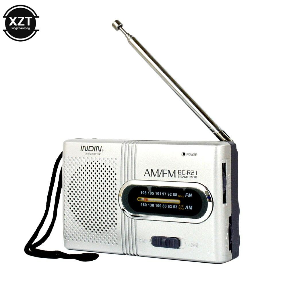 Портативный мини-радиоприемник, ручной двухдиапазонный AM FM музыкальный плеер, динамик с телескопической антенной, уличное стерео радио
