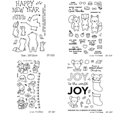 AZSG Various Cute Animals Mouse Rabbit Clear Stamps/Seal For DIY Scrapbooking/Card Making/Album Decorative Silicone Stamp Crafts