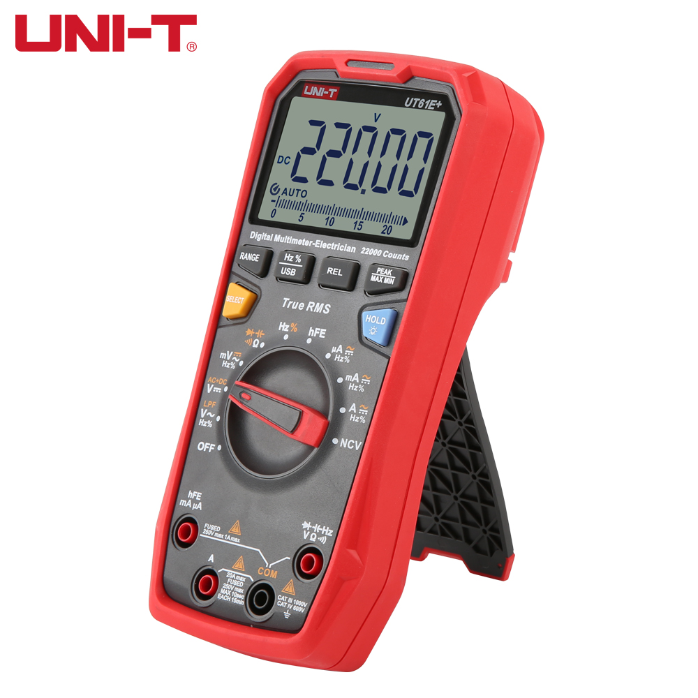 Capacitance Current Of UT61E Tester Upgraded T Version Multimeter AC  DC UNI  RMS   Digital True Resistance UT61D Voltage UT61B