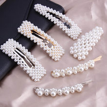 Fashion Pearl Women Hair Clips Women Hairpins Girls Snap Metal Hair Clip Pin for Hairs Clamp Stick Barrette Ornament Accessories(China)