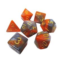 N58F DIY Crystal Epoxy Mold Dice Fillet Shape Multi-spec Digital Game High Mirror Silicone Mould Making Accessories