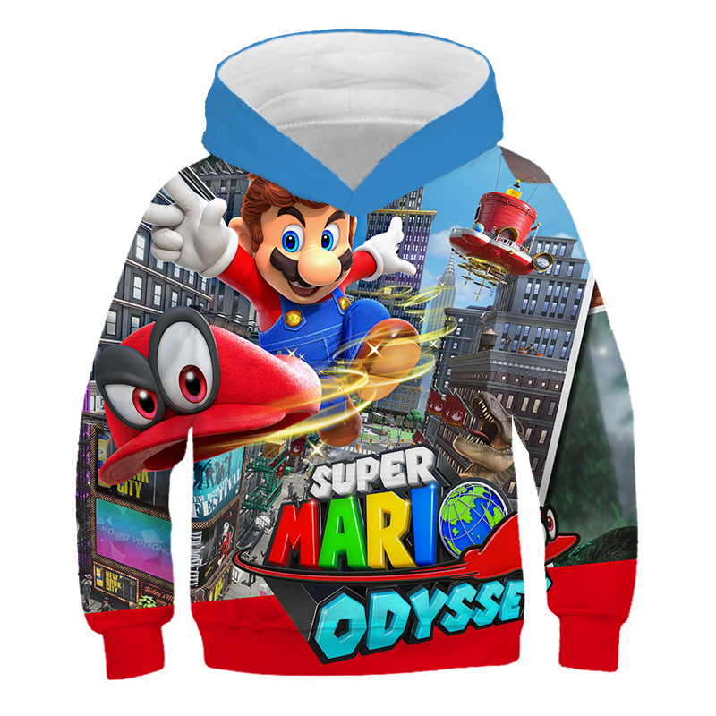 Spring Fashion Super Mario Bros Hoodies 3D Printing Cosplay Sweatshirt Cloth Kids Tops Unisex Casual Hip Hop Hoodie Men