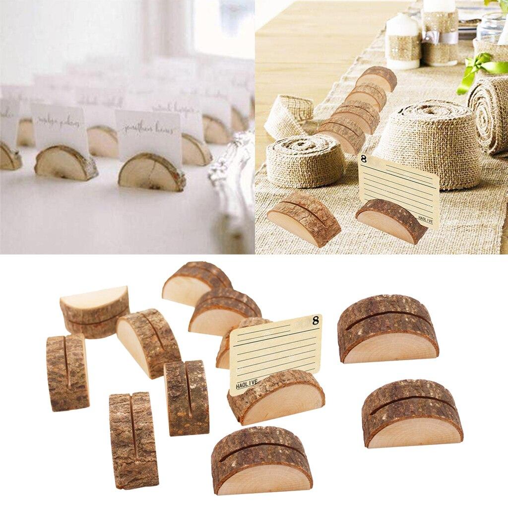 120 pièces porte cartes en bois porte numéro de Table pour les décorations - 5
