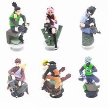 6pcs/set Naruto Action Figures Naruto Sasuke Gaara Model Figurines Dolls Anime Naruto Decoration Collection Gift Toys 8-9cm