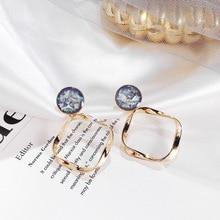 Korea fashion metal earrings Vintage Statement Drop Earrings for Women 2019 Geometric Gold Hanging Dangle Earring