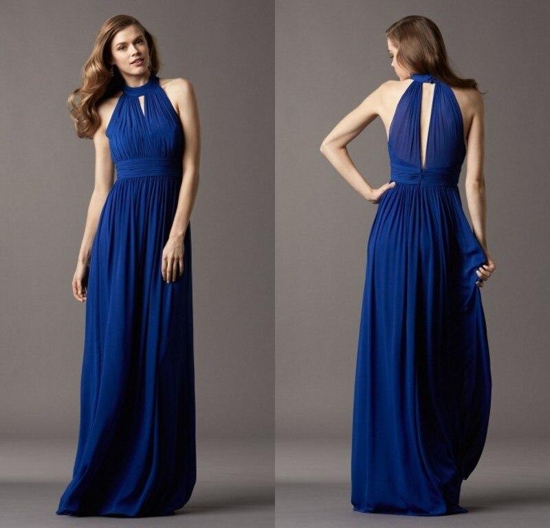 Elegant Long Evening Dresses Simple Design Back Hollow Dresses Classic A-line Draped Flowing Chiffon Floor Length Gowns