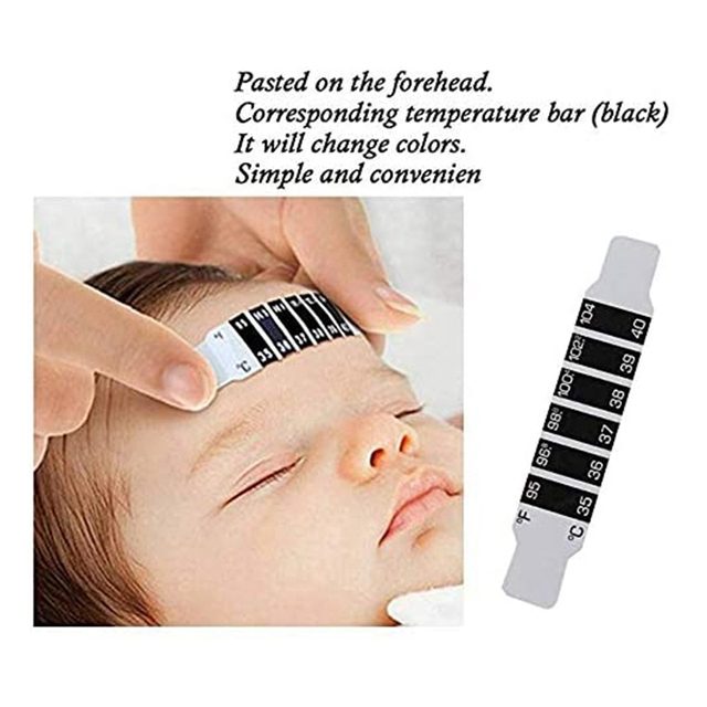 100 Pack Forehead Thermometer-Instant Readable Forehead Thermometer Reusable Thermometer