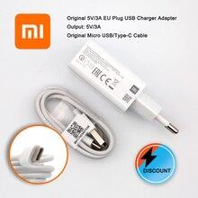 Original Xiaomi mi9 SE Redmi EU QC 3.0 quick Fast Charger USB Adapter 5V/3A Quick Charge Type C Data Cable for Mi 9T C9 A3 A2 A1 104 1541cldn ver a3 a2 original industrial motherboard