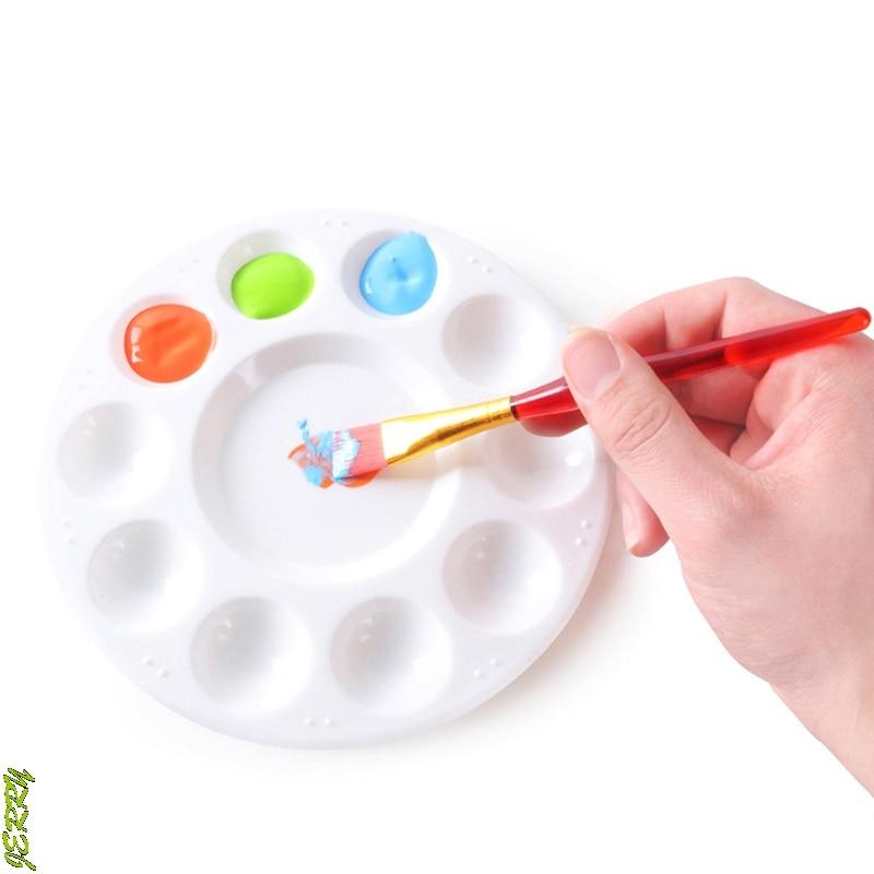 Palette 10 Grid Art Paint Tray Artist Watercolor Plastic Mixing Palette Supplies