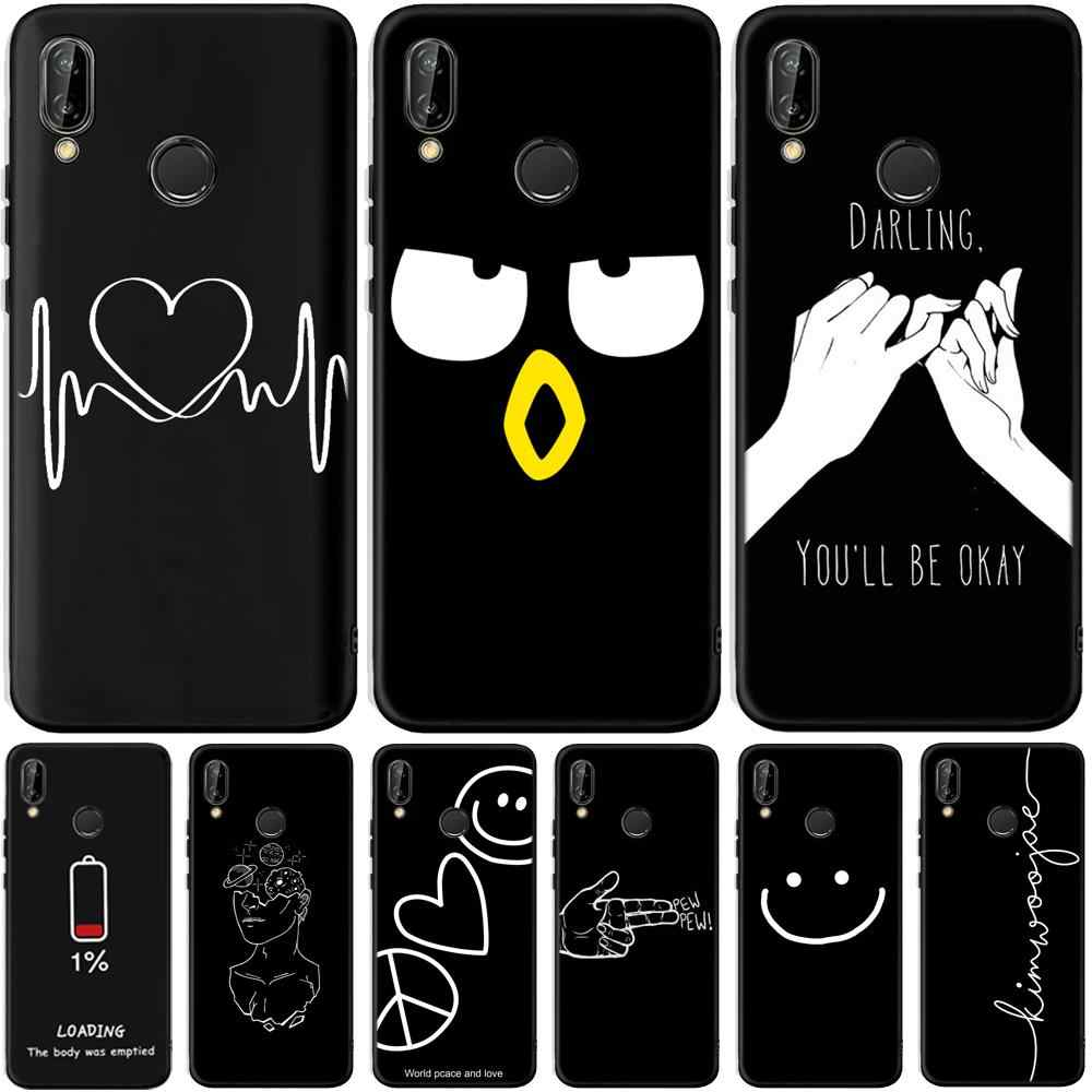 Artistic lines Case For Huawei P20 P30 Pro Mate 10 20 Lite Y5 Y6 Y7 Y9 Prime P Smart Plus 2019 Cases Silicone Cover Coque Etui