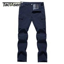 Winter Pants Military Trousers Fleeced Warm Straight 4XL TACVASEN Pockets Softshell Outdoor