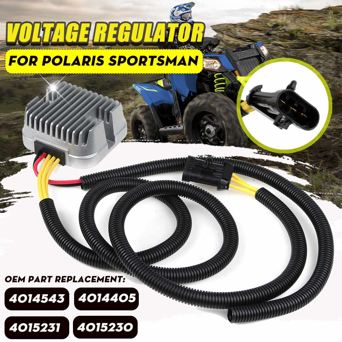 ATV Voltage Regulator Rectifier 4014405 4014543 4015231 For Polaris Sportsman 570/Touring 2014-2018 X2 570