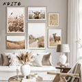Декоративный постер в скандинавском стиле, Настенная картина с изображением природного поля, пейзажа, для гостиной