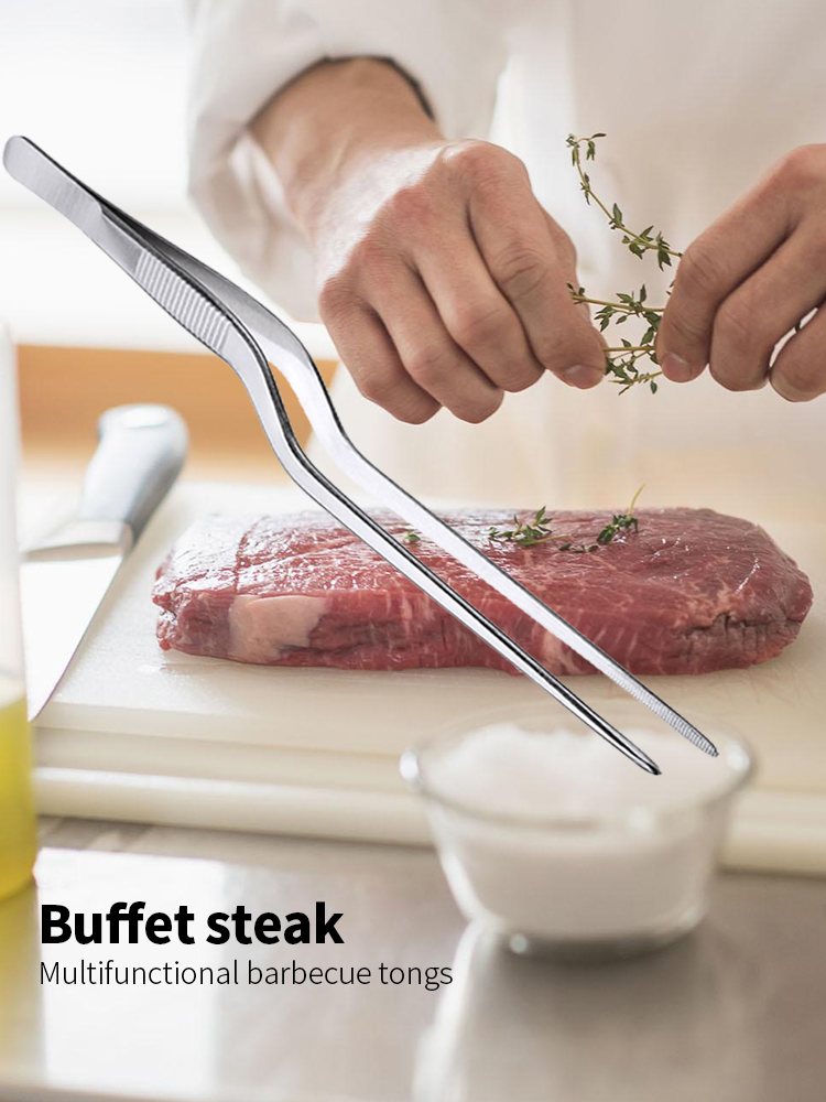 Kitchen Utensils Bbq Tweezer Chief-Tongs Food-Clip Barbecue-Cooking Stainless-Steel Picnic