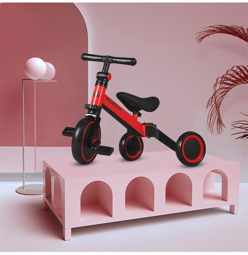 Hd564981fb5014b9fb85ce91549406927v 3 in 1 Kids Tricycle + Balance bike + Baby walker Child Push Bike Toddler Learn to Ride Bicycle Ride On Toy Boy Girl Xmas Gift