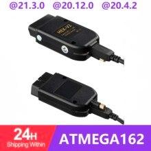 HEX V2 Obd2 Scanner VAGCOM 21.3 VAG COM 20.4.2 FOR V W For AUDI ATMEGA162+16V8+FT232RQ with best quality