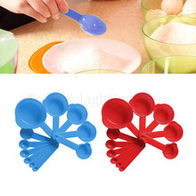 Measuring Spoons Plastic Cups Scale Coffee Baking Kitchen Set with for Tea 11pcs