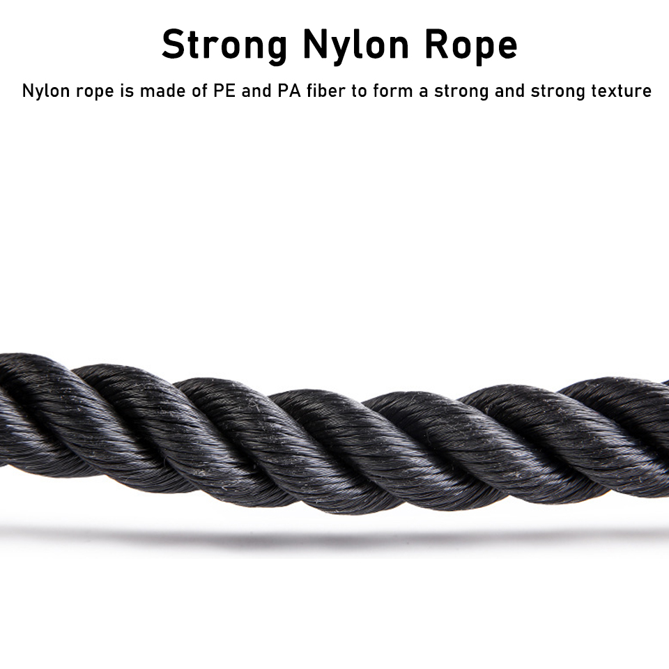 Professional Tricep Rope Abdominal Cable Pull Down Biceps Muscle Training Fitness Pull Rope Indoor Sports Gym Exercise Equipment
