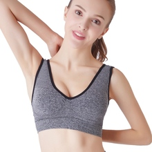 Women Wire free Sports Bra Large Thin Section With Padded Seamless Push Up Yoga
