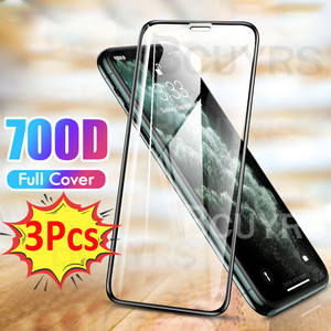 3Pcs Full Cover Tempered Glass On For iPhone 7 8 6 6s Plus SE 2020 Screen Protector For iPhone X XS Max XR 12 11 Pro Max Glass(China)