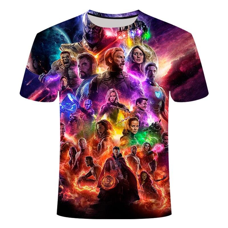Men's 2019 3D New Marvel Avengers 4 Final T-shirt 3d Print Superhero US Cosplay Short Sleeve Summer Fashion T-Shirt
