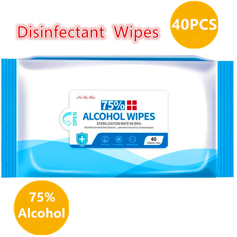 75% Alcohol Cleaning Wet Wipes Disinfectant Wipes Daily Disinfecting Use For Hand Home House Travel Office Electronics School