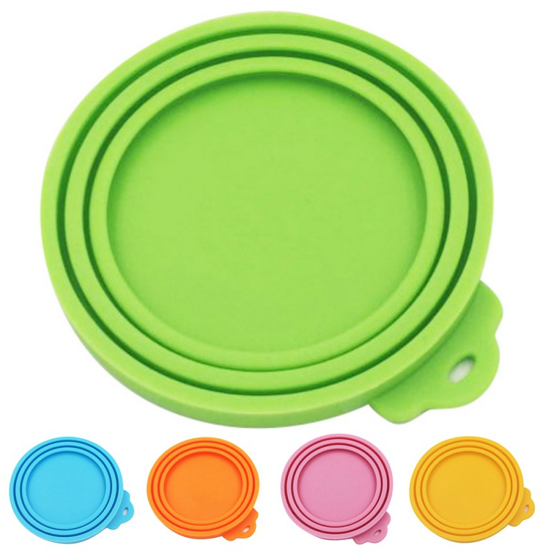 Silicone Canned Lid Sealed Feeders Pet Food Can Cover Lid Storage Top Cap Reusable Cover Lid Health Pet Daily Products
