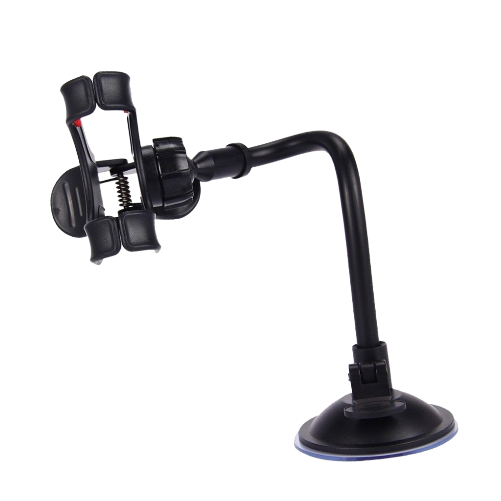 Universal Car Phone GPS Holder Windshield Mount Antiskid 360-degree Black
