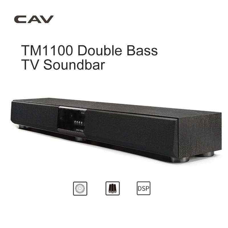 Home Theater Speaker Subwoofer Soundbar Surround-Sound-System TV Cav Tm1100 Bluetooth