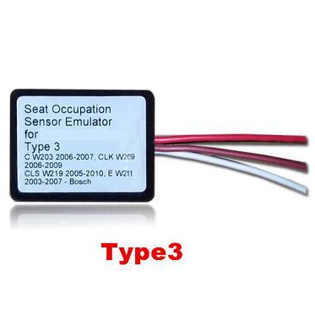 New SRS Emulator Type 3 seat emulator Airbag reset tool for MB C W203 CLK W209 CLS W219 E W211