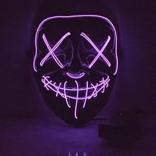 Halloween LED Mask Purge Masks Election Mascara Costume DJ Party Light Up 10 Colors To Choose Led