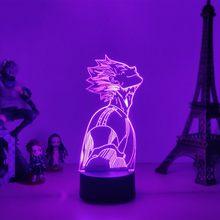 Lampe 3D à l'effigie de Haikyuu, idéale pour une chambre à coucher ou un dortoir, idéale pour la Table de chevet