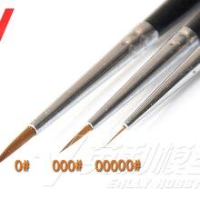 3 in 1 Modeling Pointed Round Brush Combo Set Gundam Model Kit Tool 0# 000# 00000#