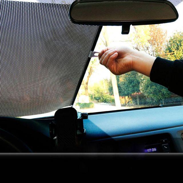 $ 6.69 Retractable  Anti UV Car Windshield Visor Sun Shade Auto Front Rear Side Window Blinds Sun Shades 58*125cm