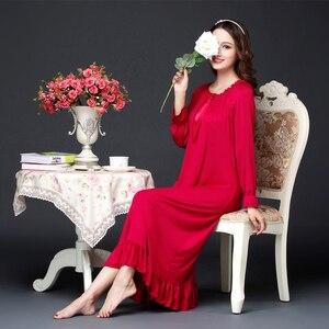 Primavera outono senhoras mangas compridas modale versão coreana palácio princesa camisola estudantes soltos grávidas pode usar