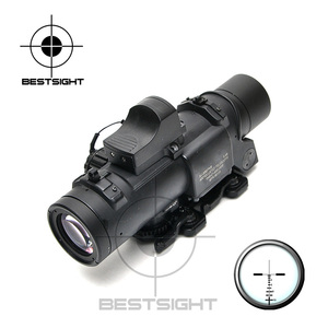 Rifle táctico de tiro alcance 1X-4X mira óptica Rifle Airsoft magnifica alcance para caza con mini punto rojo